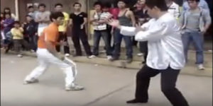Taekwondo vs Wing Chun street fight